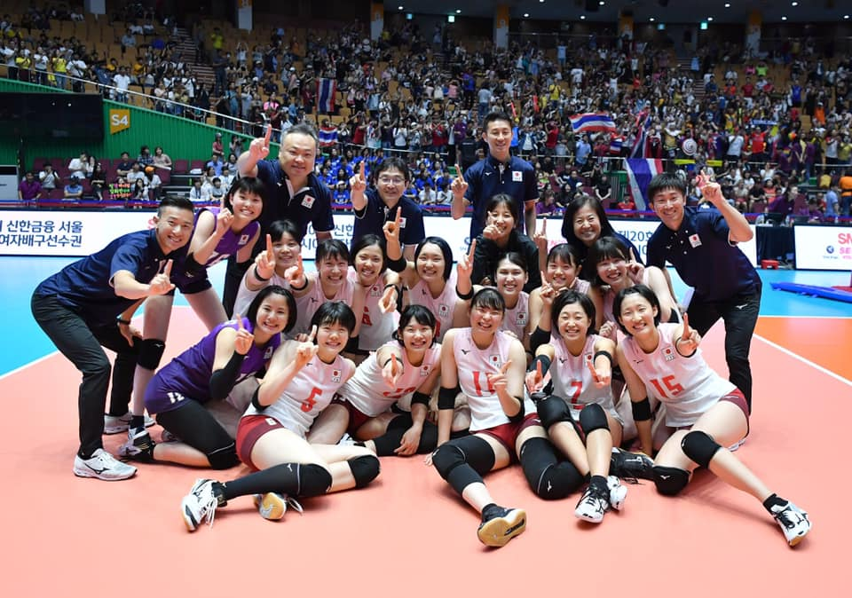 L'Equipe Féminine de Volley du Japon sacrée Championne d'Asie 2019