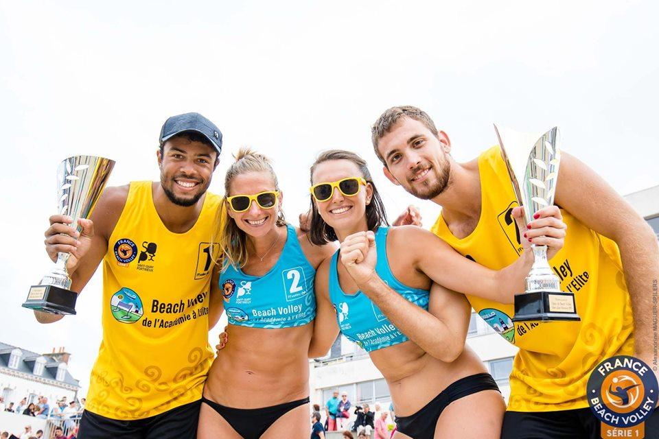 Les Champions de France de Beach Volley vainqueurs du Tournoi de St Quay