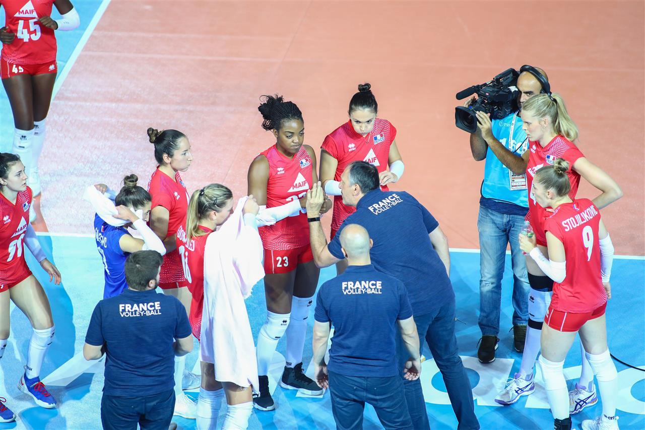L'Equipe de France de Volley Féminine perd contre la Finlande à l'Eurovolley 2019