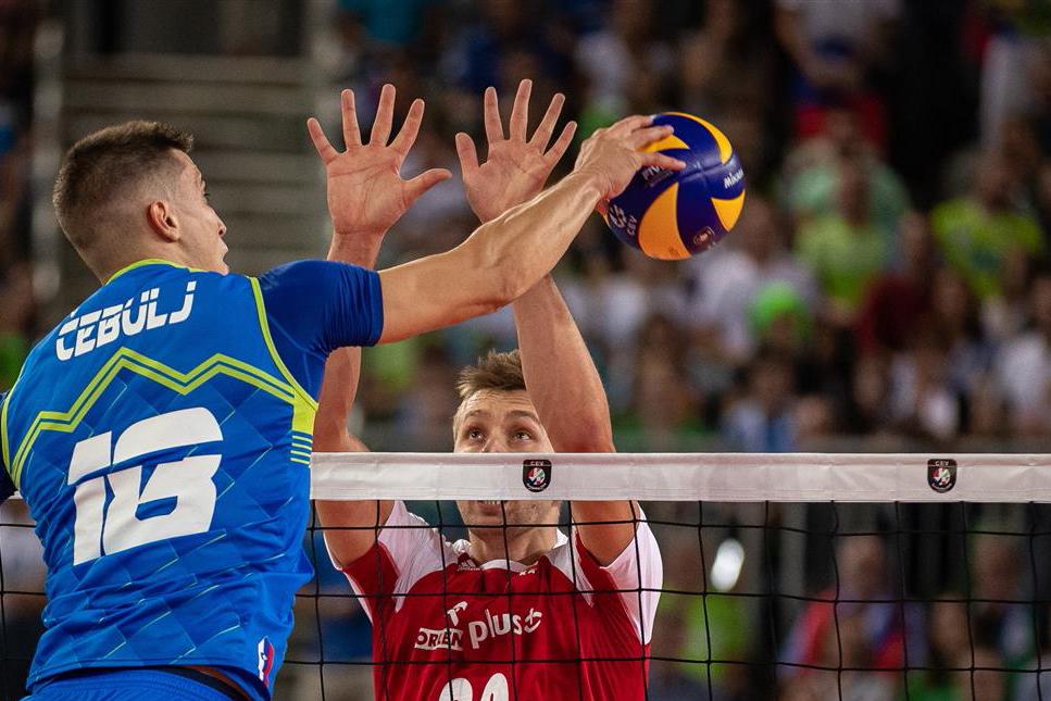 La Slovénie envoie la Pologne en Petite Finale de l'EuroVolley 2019