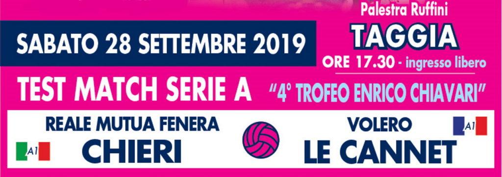 Match amical : Reale Mutua Fenera Chieri – Volero Le Cannet