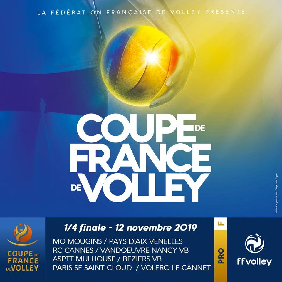 Les Quarts de Finale de Coupe de France Féminines ont révélé leurs résultats