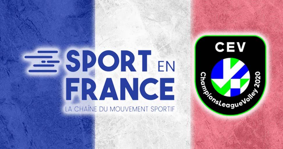 La CEV Ligue des Champions sera de retour à la télévision avec la Chaîne Sport en France