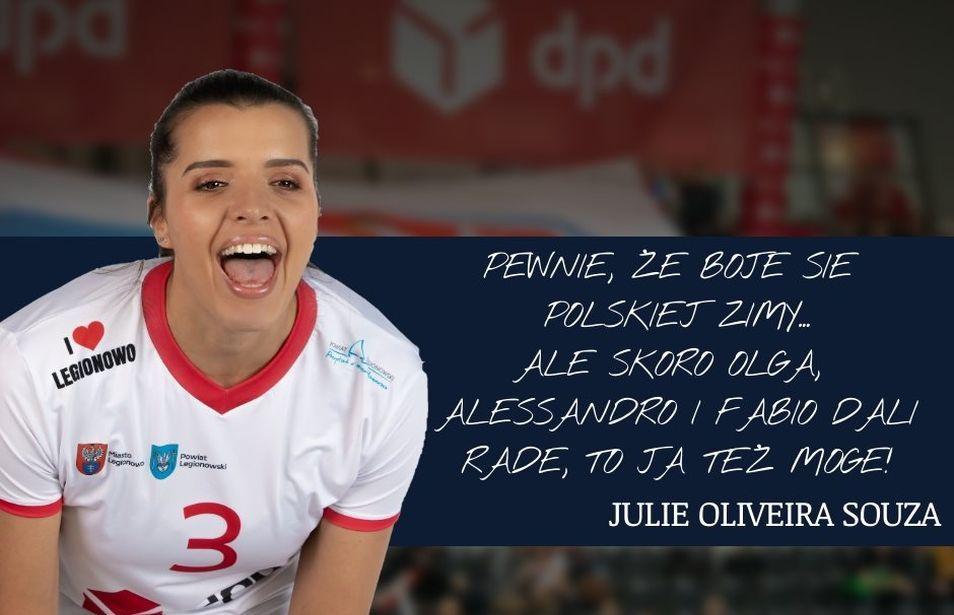 Un nouvel entretien de la pointue tricolore Julie Oliveira Souza par dpd.legionovia.pl