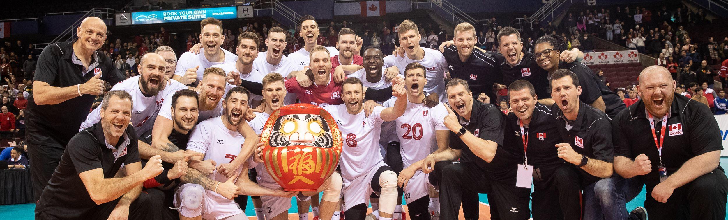 L'Equipe Masculine du Canada obtient à domicile son visa pour les JO de Tokyo 2020