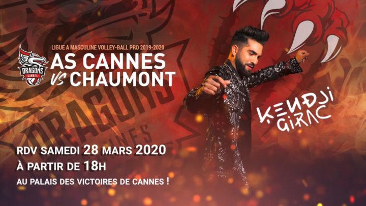 AS Cannes clôturera la saison régulière après son match contre Chaumont en faisant vibrer son public avec Kendji Girac