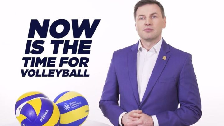 Le candidat à la Présidence de la CEV, Hanno Pevkur est interviewé par World of Volley