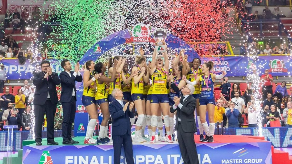 Le club Champion du Monde Imoco Volley gagne la Coupe d'Italie