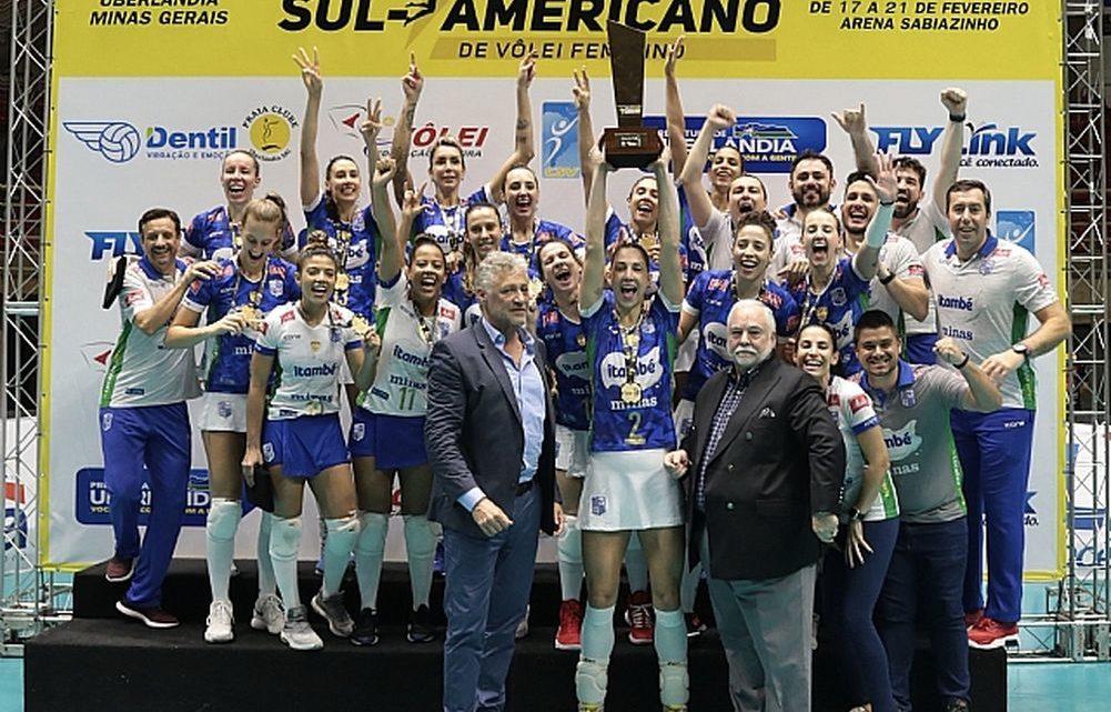 Le club féminin brésilien Itambé Minas obtient son 5ème titre du Championnat des clubs d'Amérique du Sud