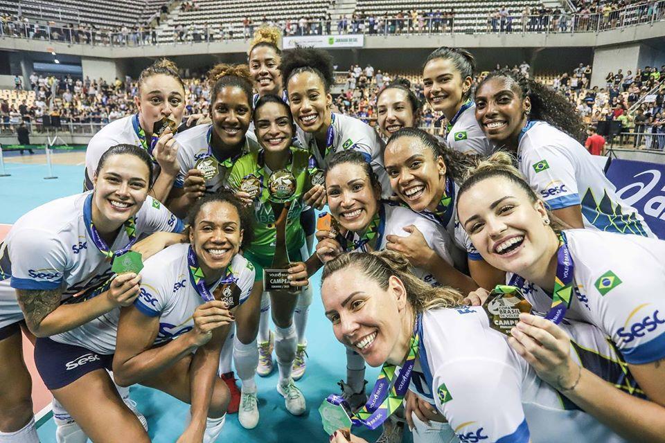 La Coupe du Brésil a ses vainqueurs : Sesc RJ Vôlei (Femmes) et Sada Cruzeiro (Hommes)