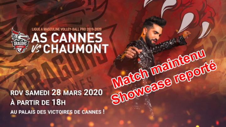L'AS Cannes maintient son match contre Chaumont mais reporte le showcase avec Kendji Girac