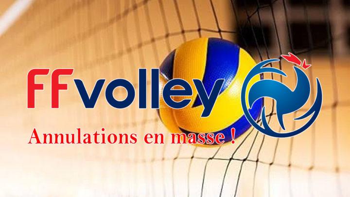 Annulation en masse des compétitions de la FFVolley