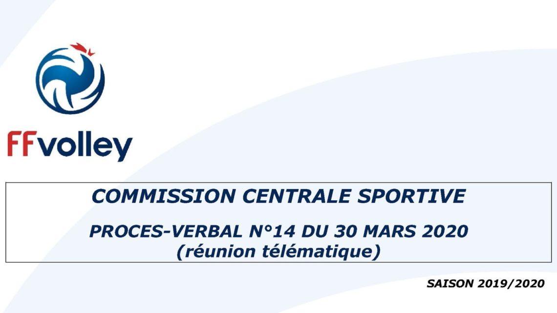 Procès verbal de commission centrale sportive de la FFVolley sur les conditions d'accession