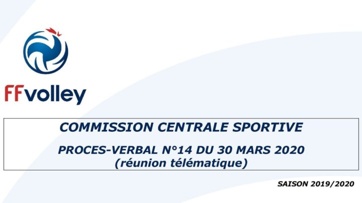 Procès verbal de commission centrale sportive de la FFVolley sur les conditions d'accession