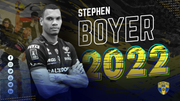Le pointu tricolore Stéphen Boyer prolonge de 2 ans à Bluvolley Verona (Vérone)