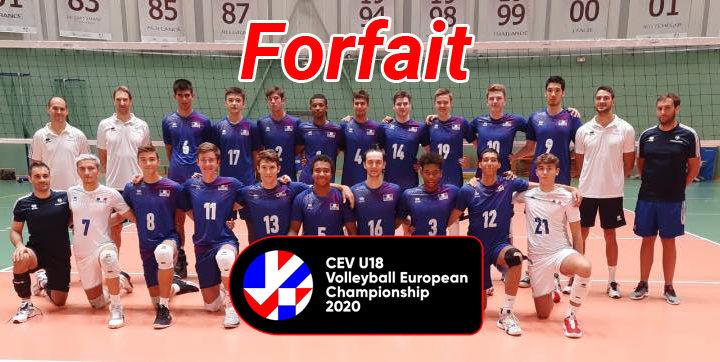 L'Equipe de France U18 forfait pour l'EuroVolley U18M