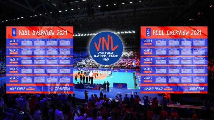 La FIVB dévoile le calendrier 2021 de la VNL
