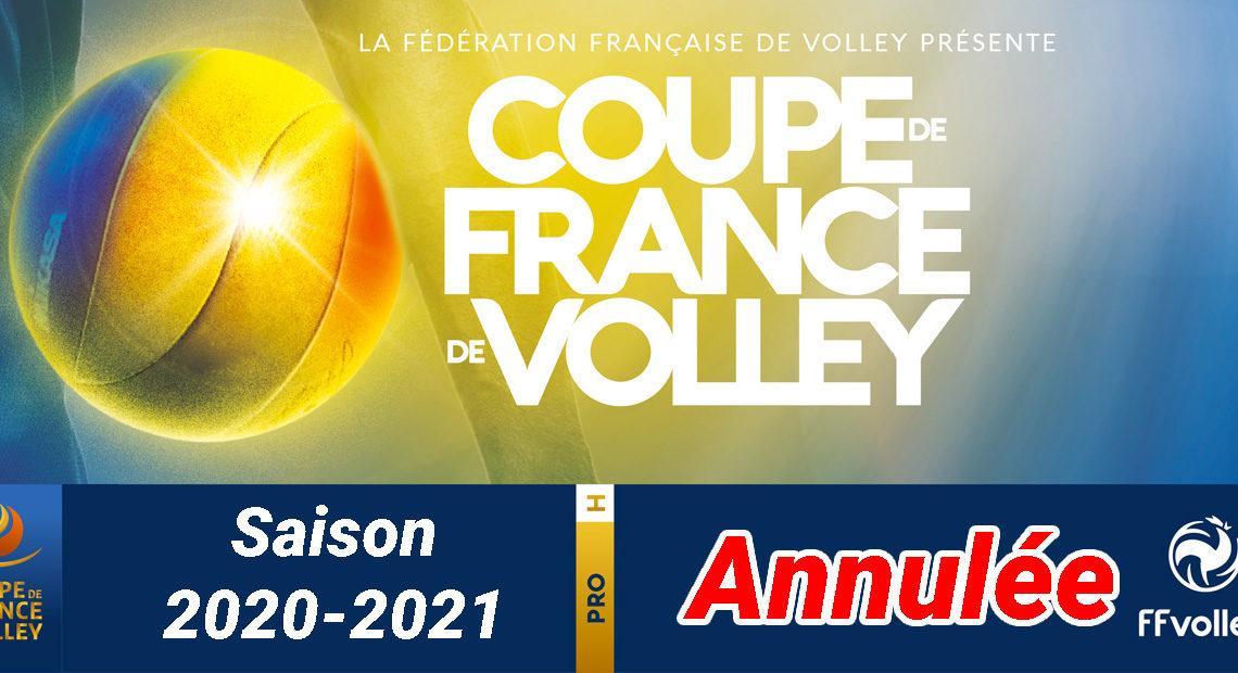 La Coupe de France de Volley-Ball 2020-2021 chez les Hommes est annulée !