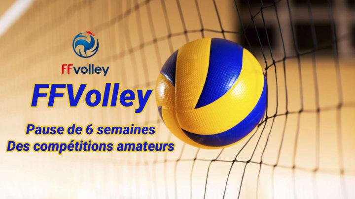 La FFVolley met en pause les compétitions amateurs pour 6 semaines
