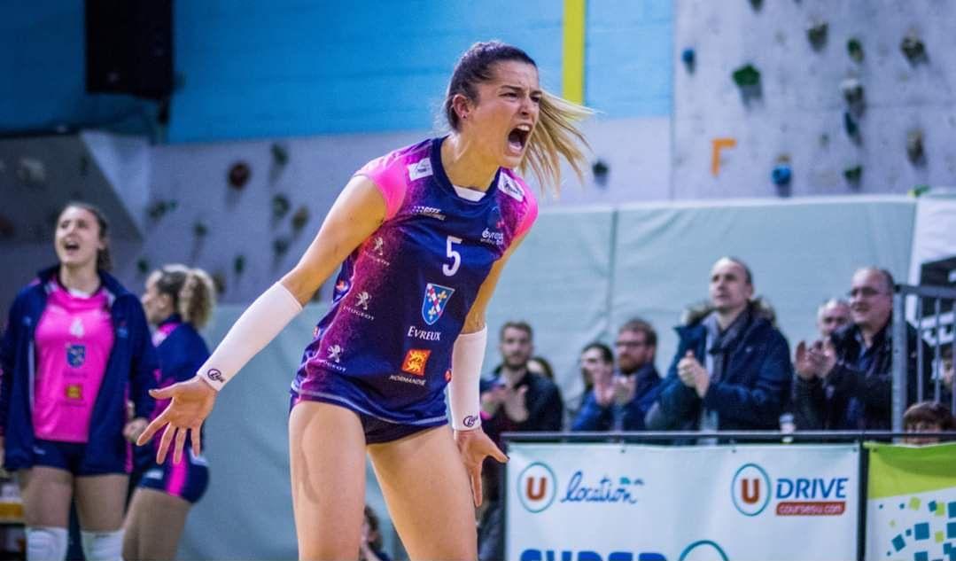 DEF : Romane Ruiz, une Panthère qui rugit à Evreux Volley-Ball