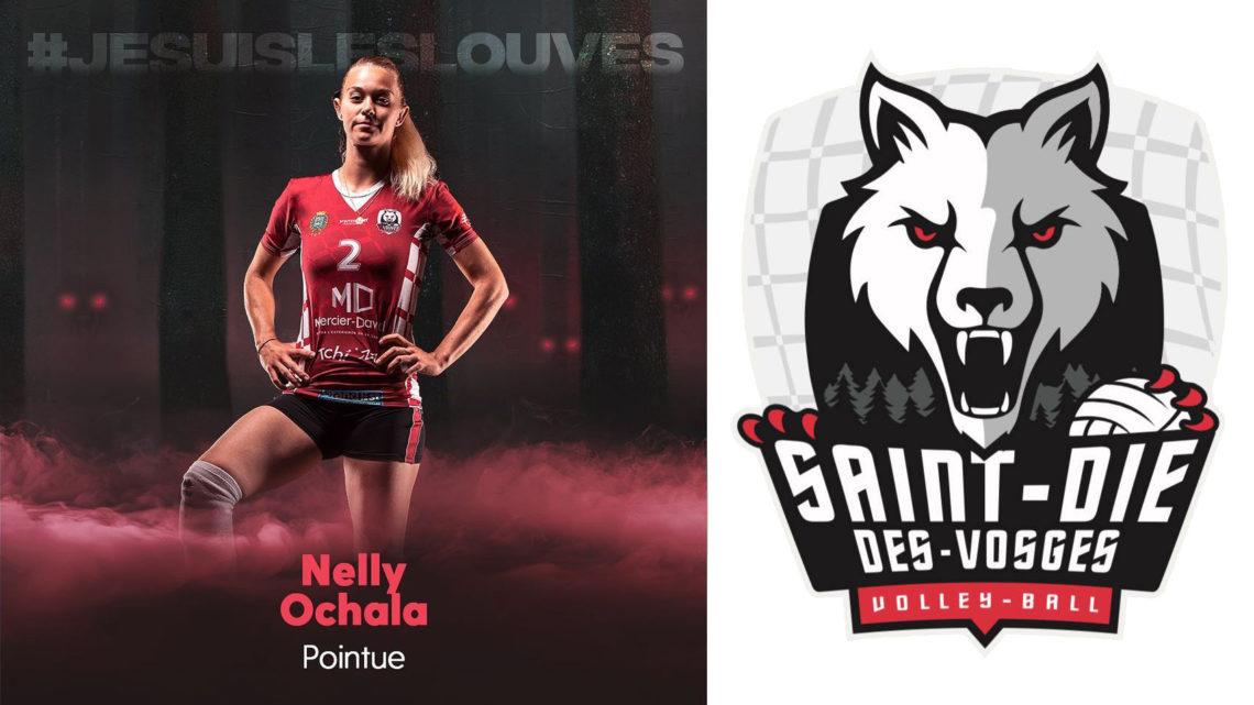 DEF : Nelly Ochala  une louve de Saint-Dié-des-Vosges Volley-ball qui a les crocs !