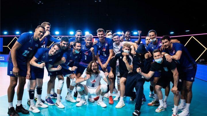 VNL 2021 : L'Equipe de France gagne au tie-break face à l'Allemagne