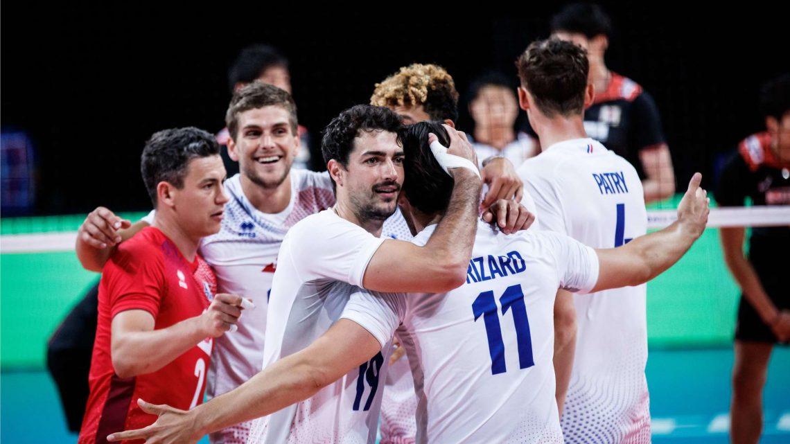 VNL 2021 : La France se défait du Japon au bout du tie-break !