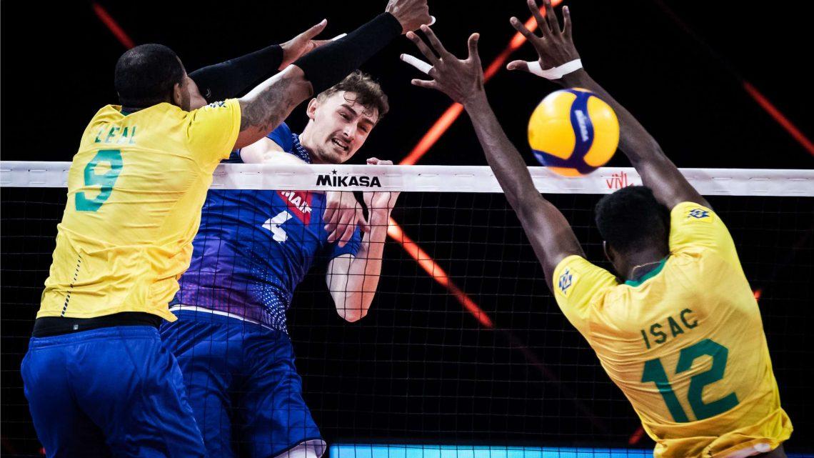 A la VNL 2021, la France montre ses muscles au Brésil en s'octroyant 2 sets au-delà des 25 points gagnants !